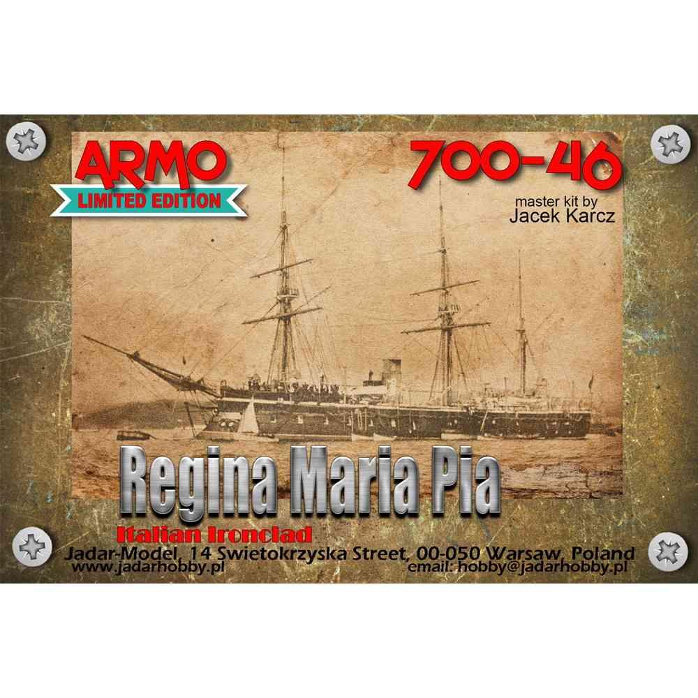 【新製品】700-46 伊海軍 レジーナ・マリーア・ピア級装甲艦 レジーナ・マリーア・ピア Regina Maria Pia 1864