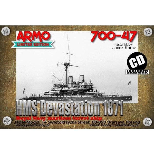 【新製品】700-47 英海軍 デヴァステーション級装甲艦 デヴァステーション Devastation 1871