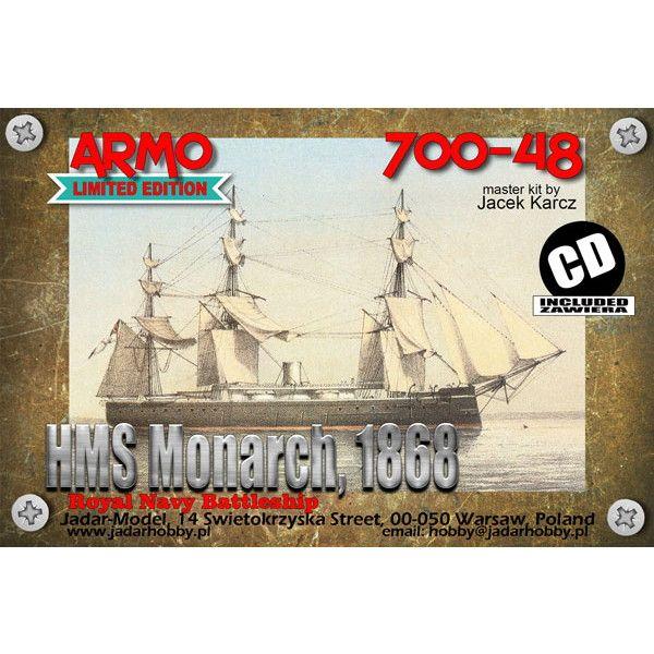【新製品】700-48 英海軍 装甲艦 モナーク Monarch 1868
