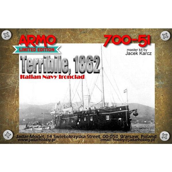 【新製品】700-51 伊海軍 フォルミダビーレ級装甲艦 テリビーレ Terribile 1862