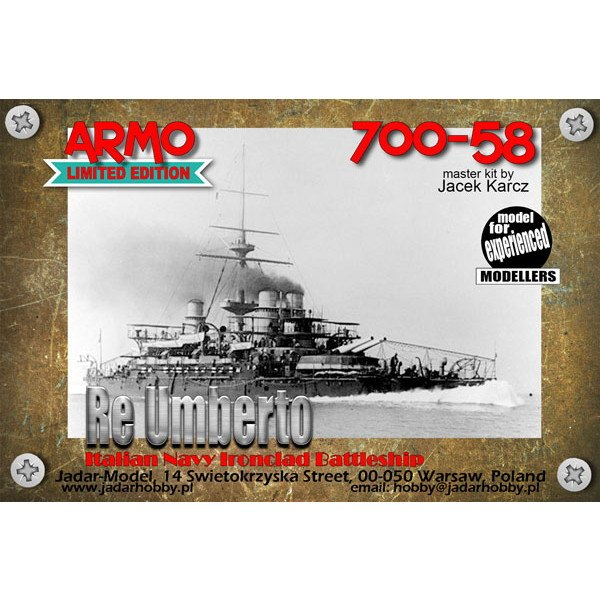 【新製品】700-58 伊海軍 レ・ウンベルト級戦艦 レ・ウンベルト Re Umberto