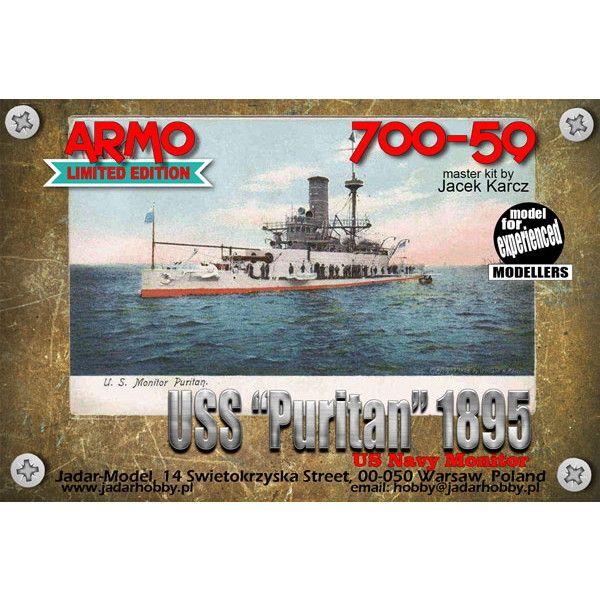 【新製品】700-59 米海軍 モニター艦 BM-1 ピューリタン Puritan 1895