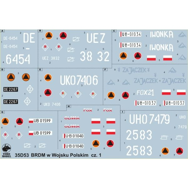 【新製品】35D53 ポーランド軍 BRDM 偵察装甲車 Vol.1