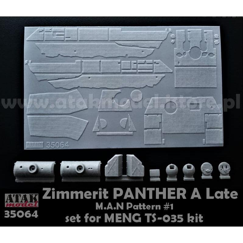 【新製品】35064 ツィメリットコーティングシート パンサーA型 MANパターン#1 タミヤ用