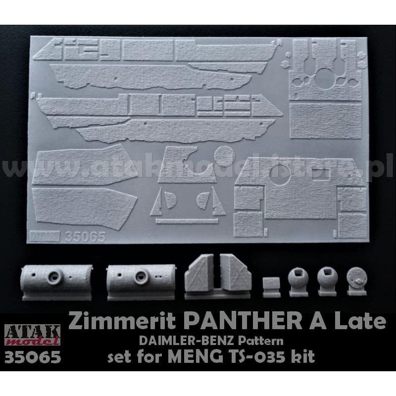 【新製品】35065 ツィメリットコーティングシート パンサーA型 ダイムラーベンツパターン タミヤ用