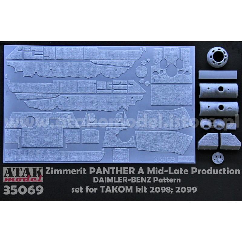 【新製品】35069 ツィメリットコーティングシート パンサーA型 中期型 ダイムラーベンツパターン タコム用