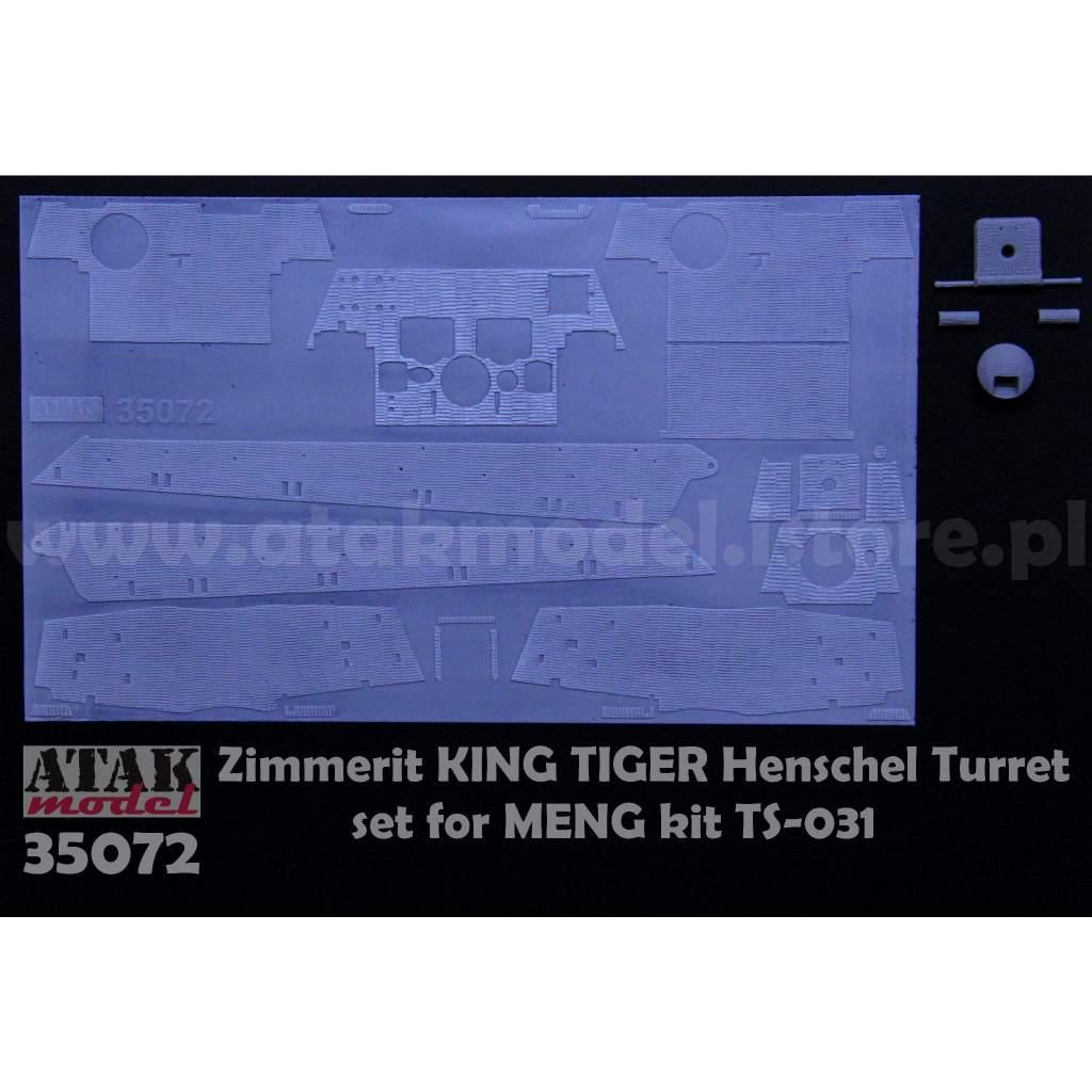 【新製品】35072 ツィメリットコーティングシート キングタイガー ヘンシェル砲塔 モンモデル用