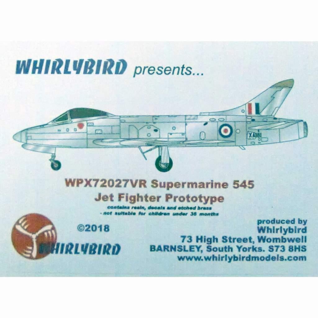 【新製品】WPX72027VR スーパーマリン 545 試作ジェット戦闘機