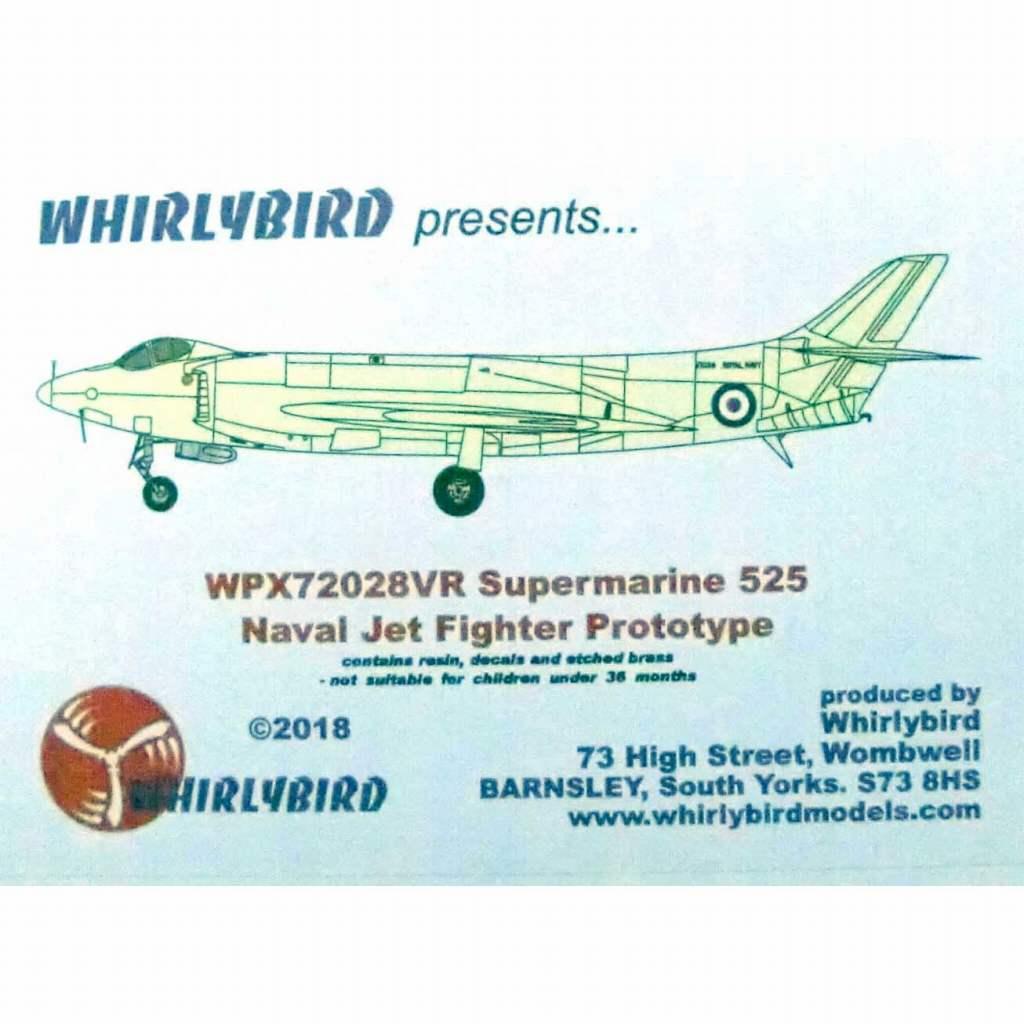 【新製品】WPX72028VR スーパーマリン 525 海軍試作ジェット戦闘機
