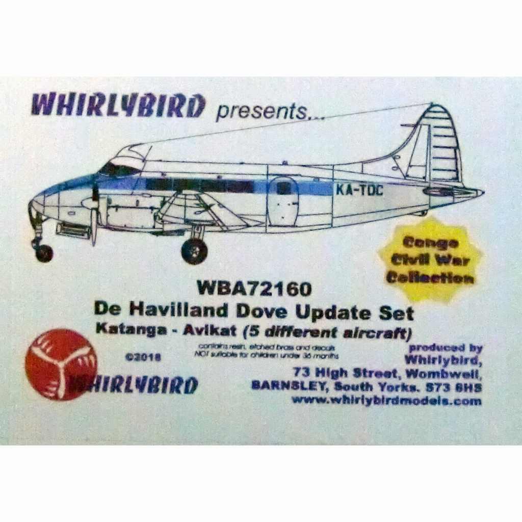 【新製品】WBA72160 デ・ハビランド ダブ アップデートセット コンゴ内戦コンバージョンセット