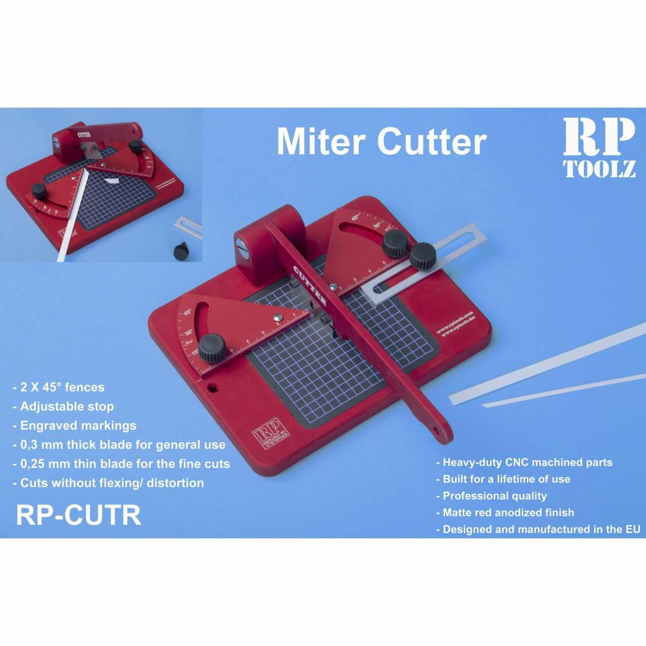 【新製品】RP-CUTR カッターツール プラ棒やプラ板を正確な角度にカットします