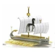 【新製品】AH87018 カルタゴ四段櫂船(ガレー船)