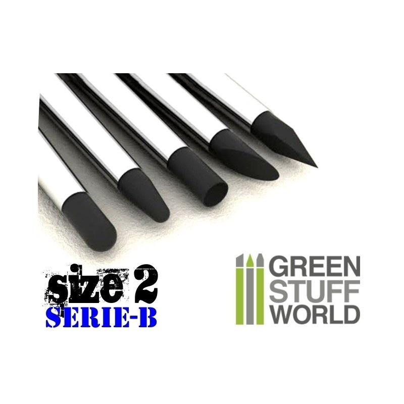 【新製品】GSWD-112 ブラックシリコンシェイパーブラシ セリエB サイズ #2 ハードタイプ