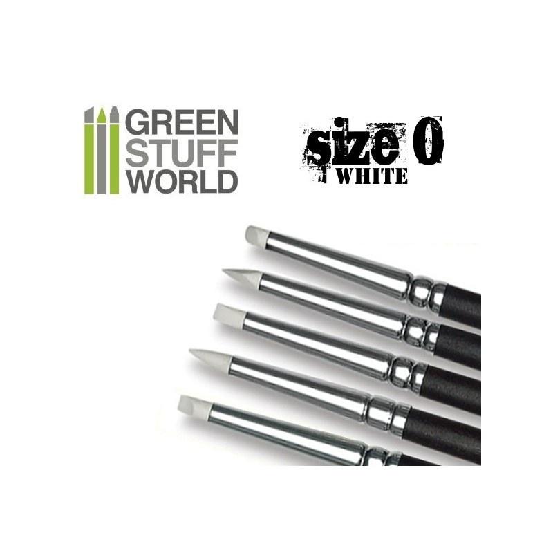 【新製品】GSWD-113 ホワイトシリコンシェイパーブラシ サイズ #0 ソフトタイプ