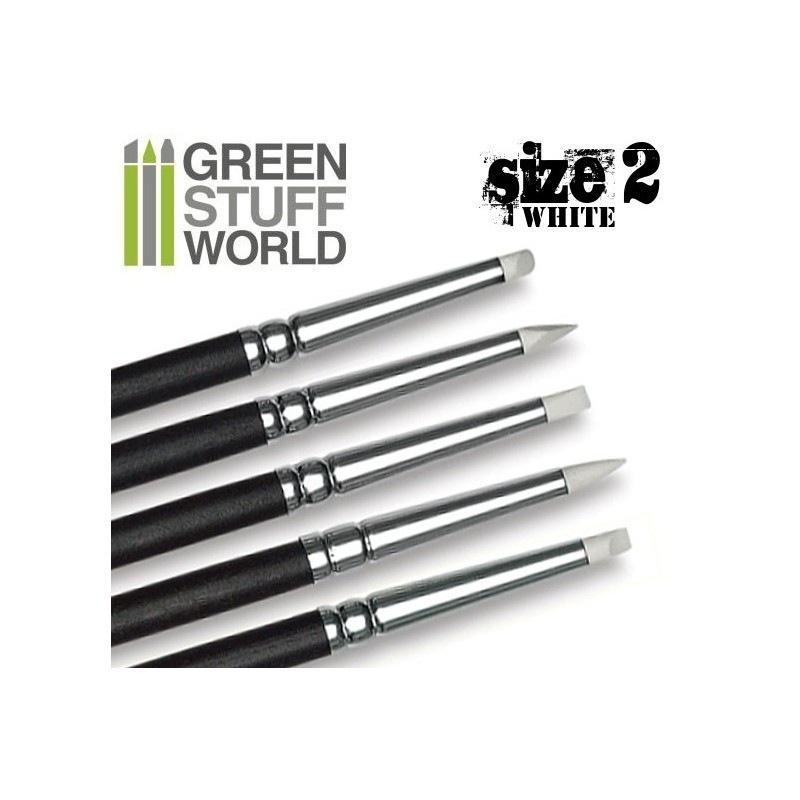 【新製品】GSWD-114 ホワイトシリコンシェイパーブラシ サイズ #2 ソフトタイプ