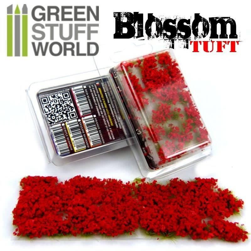 【新製品】GSWD-120 ジオラマ素材 満開の赤い花 6mm