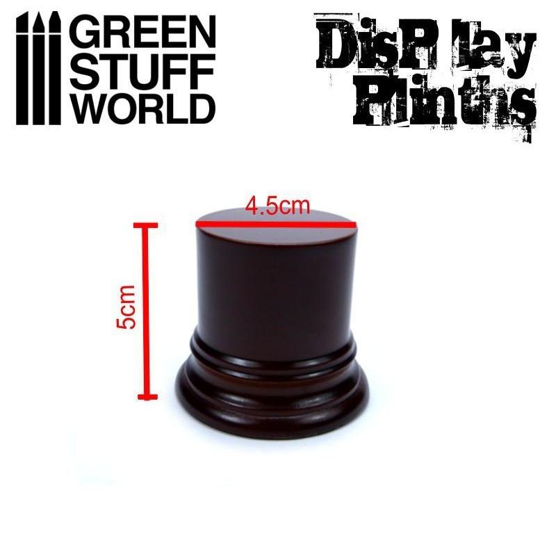 【新製品】GSWD1801 展示台:円形(直径4.5cm)ヘーゼルナットブラウン