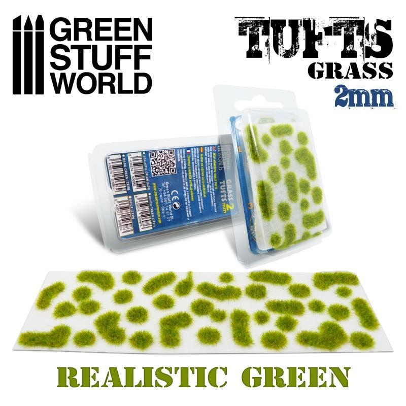 【新製品】GSWD-2336 草むら 長さ2mmリアルステックグリーン(粘着剤付)