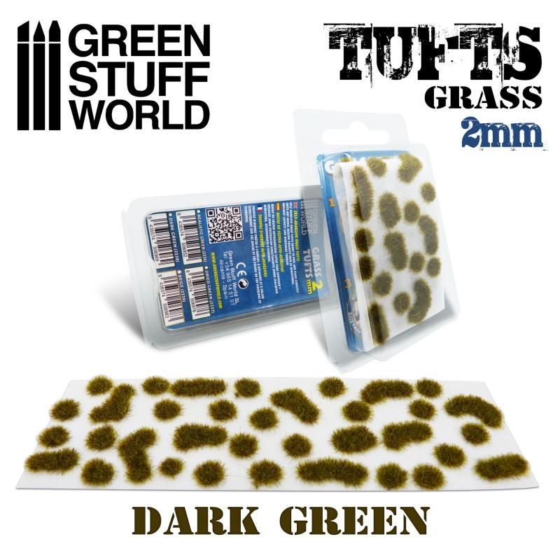 【新製品】GSWD-2338 草むら 長さ2mmダークグリーン(粘着剤付)