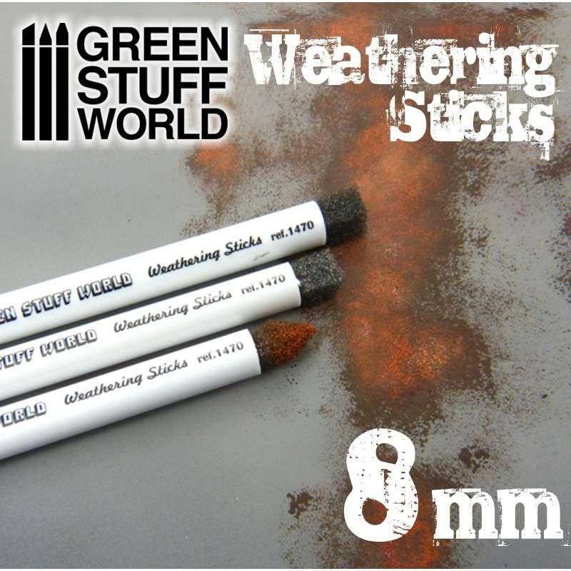 【新製品】GSWD-9311 ウェザリングスポンジブラシ 8mm径3本セット
