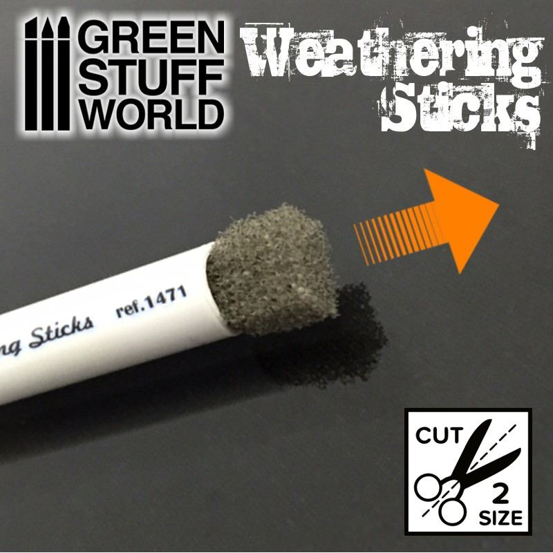 【新製品】GSWD-9312 ウェザリングスポンジブラシ 15mm径2本セット