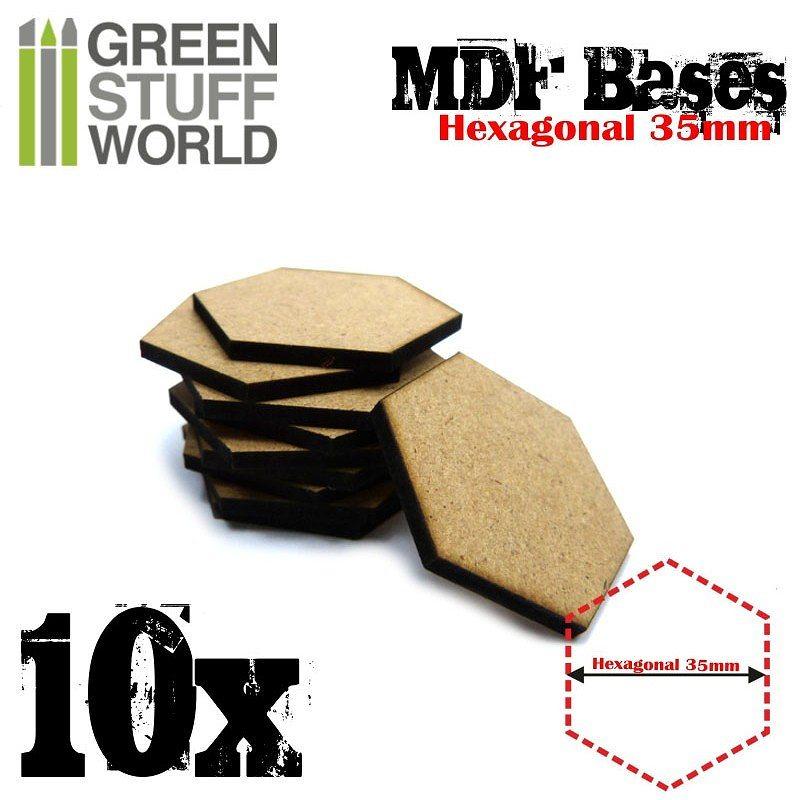 【新製品】GSWD-9356 MDFベース 六角形型セット(直径35mm) 10枚入