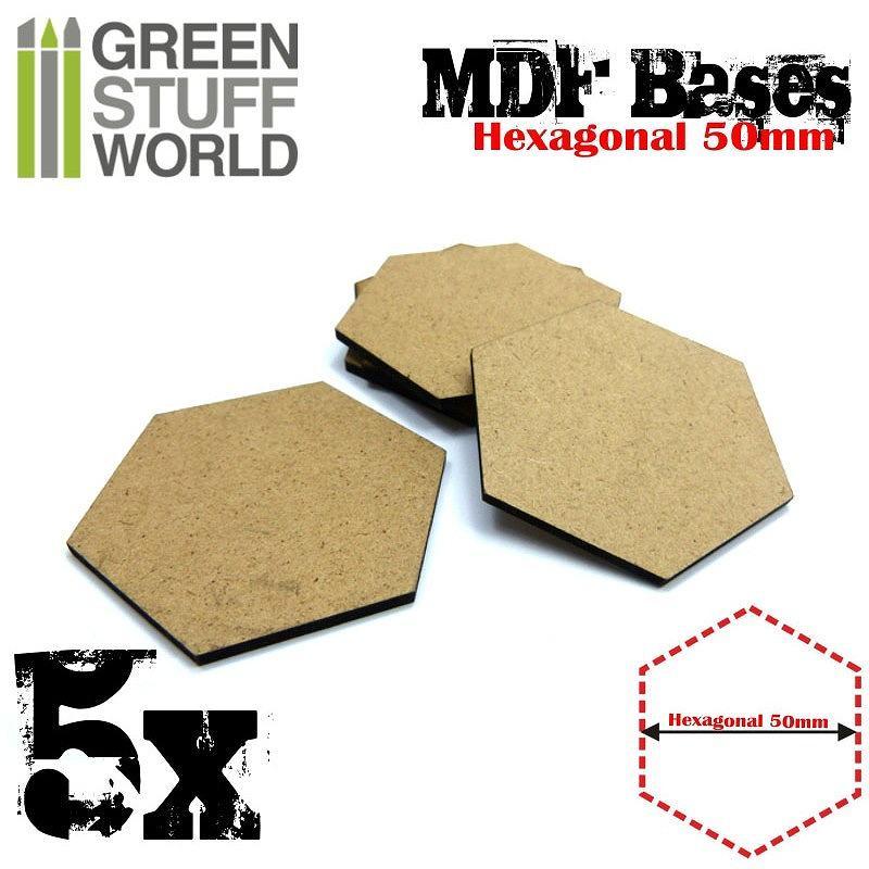 【新製品】GSWD-9357 MDFベース 六角形型セット(直径50mm) 5枚入