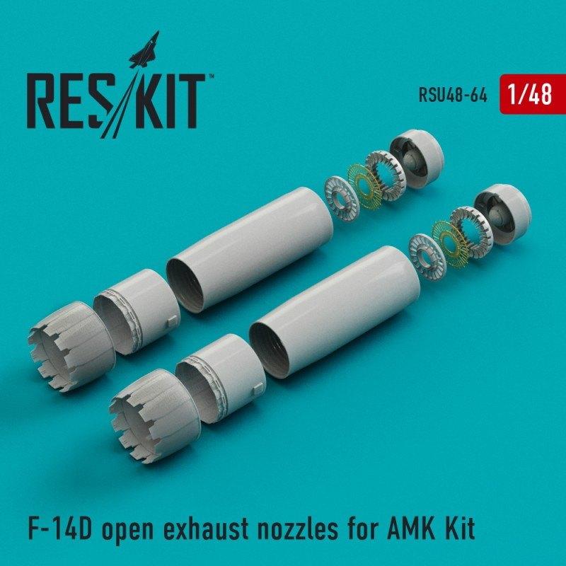 【新製品】U48-0064 F-14D トムキャット アフタバーナー(開状態) (AMK用)