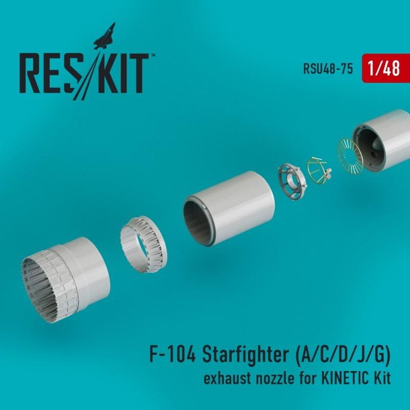【新製品】U48-0075 F-104A/C/D/J/G スターファイター アフターバーナー(キネティック用)