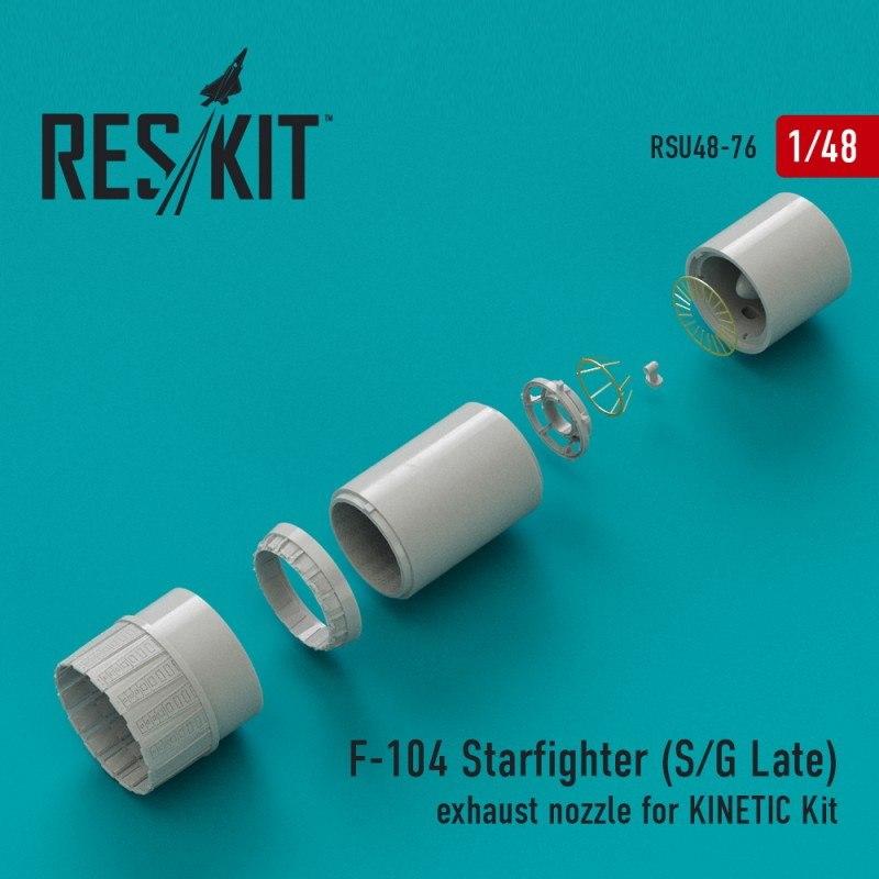 【新製品】U48-0076 F-104A/C/D/J/G スターファイター 後期アフターバーナー(キネティック用)