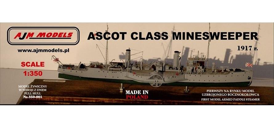 【新製品】350-001)アスコット級外輪掃海艇 1917 Ascot