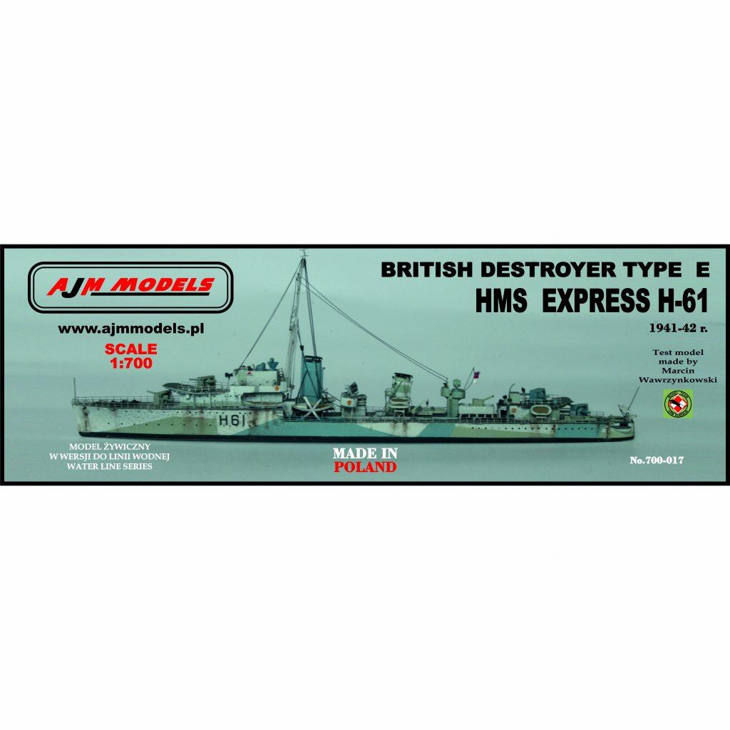 【新製品】700-017)英海軍 E級駆逐艦 H-61 エクスプレス Express 1941-42