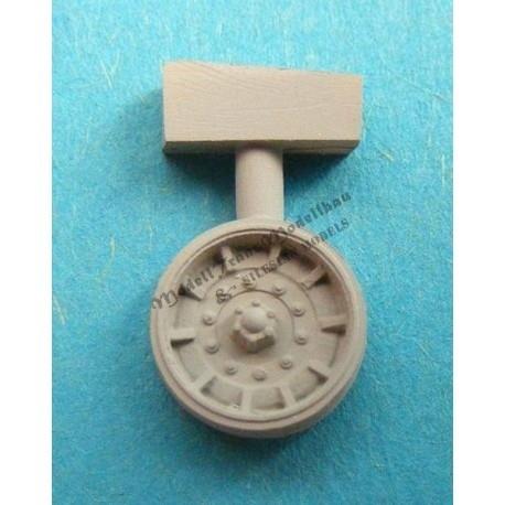 【新製品】MT72121 M60 パットン 初期型アルミスポーク転輪