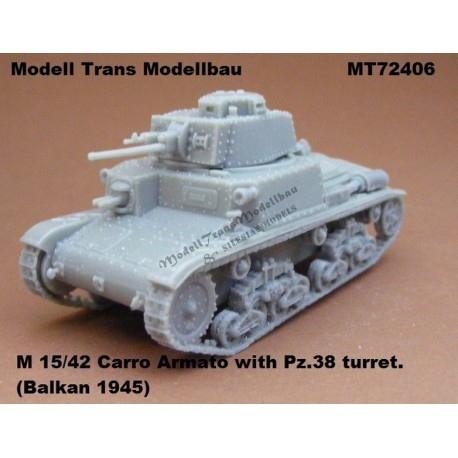 【新製品】MT72406 ドイツ M15/42 カーロ・アルマート 38(t)砲塔搭載型