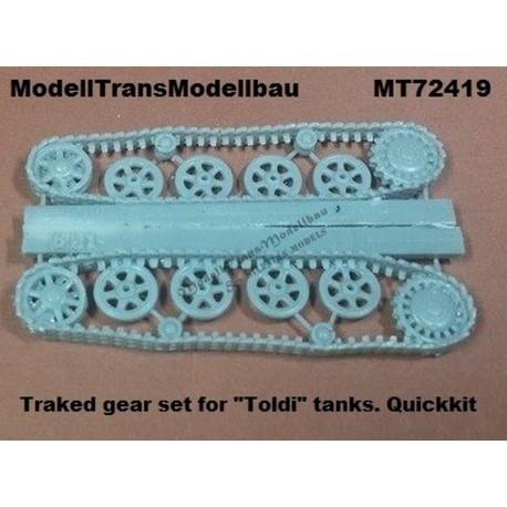 【再入荷】MT72419 ハンガリー トルディ 履帯&車輪セット