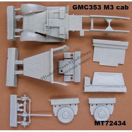 【新製品】MT72434 GMC 353 w/M3 トラックキャブ コンバージョンセット