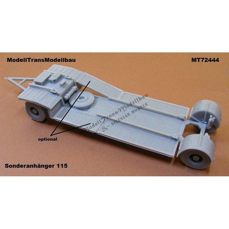 【新製品】MT72444 ドイツ Sd.Ah.115 10tトレーラー