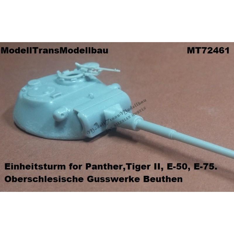 【再入荷】MT72461 ドイツ パンター ティーガーII E-50/75用試作砲塔