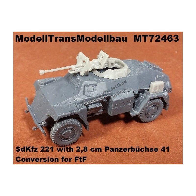 【再入荷】MT72463 ドイツ SdKfz 221 with 2.8cm sPzB41 重対戦車銃搭載型 コンバージョンセット