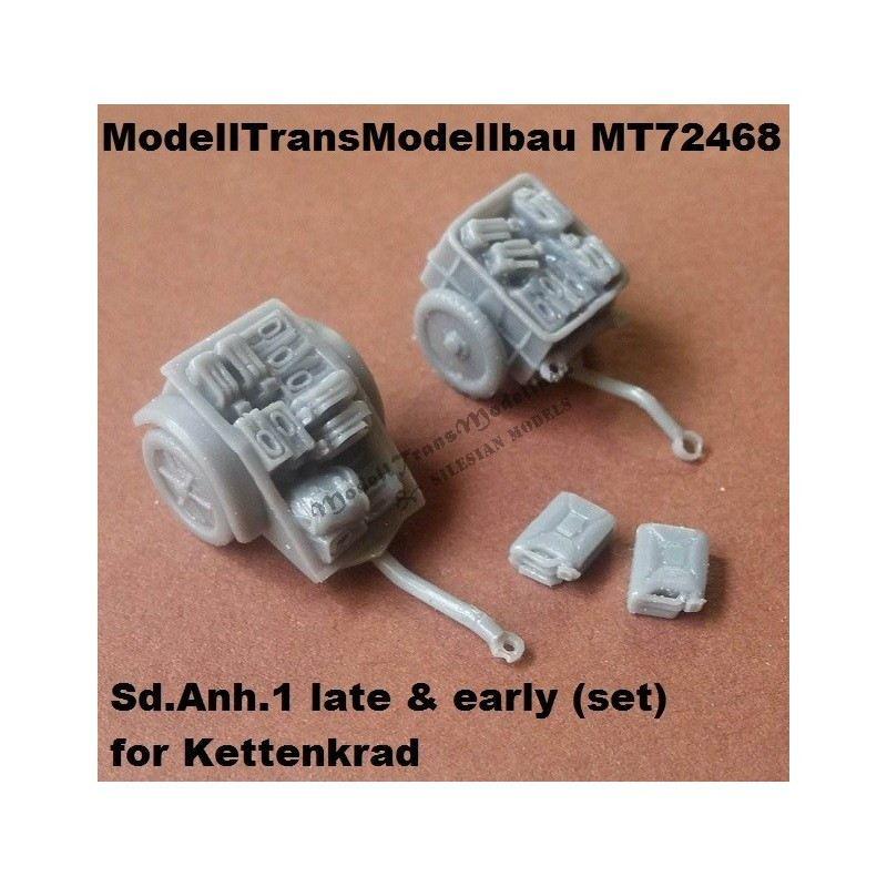 【新製品】MT72468 ケッテンクラート用 Sd.Anh.1 トレーラー 前後期型