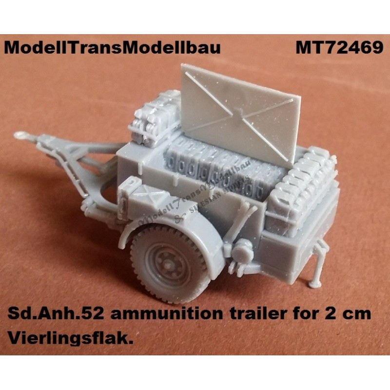 【新製品】MT72469 2cm Flak用Sd.Anh.52 弾薬 トレーラー