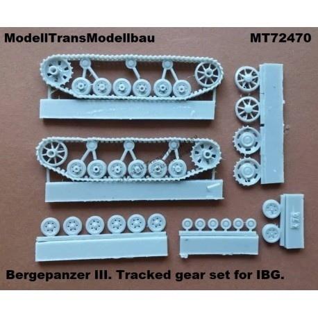 【新製品】MT72470 III号 ベルゲパンツァー用履帯&転輪セット