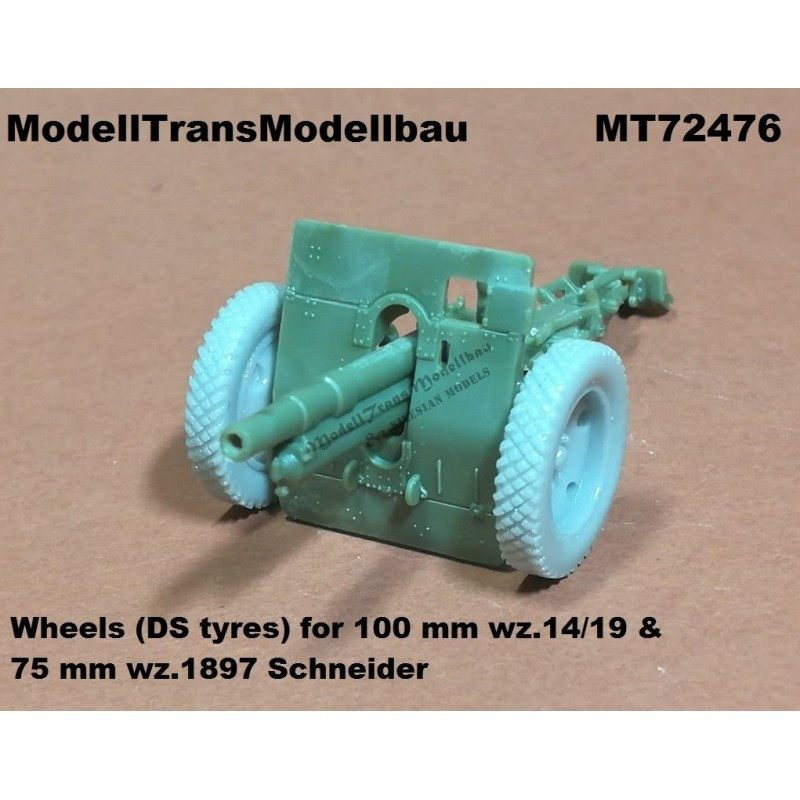 【新製品】MT72476 ポーランド 100mm wz.14/19 & 75mm wz.1897 野砲用ホイール&タイヤ