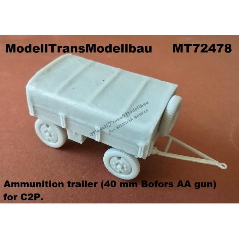 【新製品】MT72478 ポーランド C2P用ボフォース40mm弾薬トレーラー