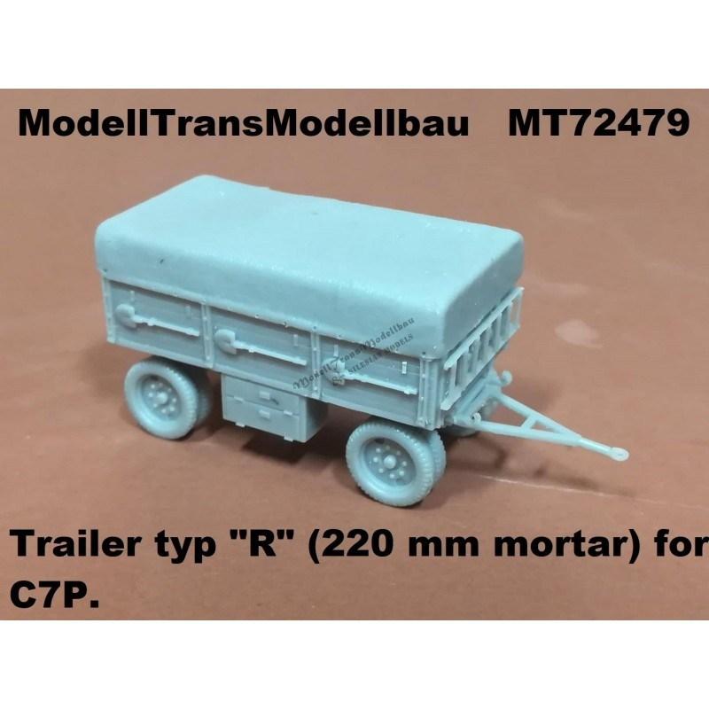 【新製品】MT72479 ポーランド C7P用220mm榴弾砲弾薬トレーラー