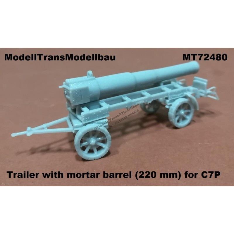 【新製品】MT72480 ポーランド C7P用220mm榴弾砲砲身トレーラー