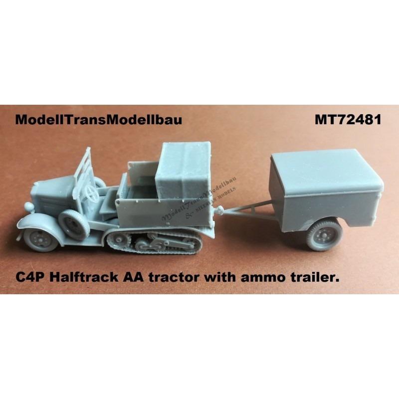 【新製品】MT72481 ポーランド C4P 牽引ハーフトラック w/75mm対空砲砲弾トレーラー