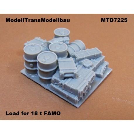 【再入荷】MTD7225 18tハーフトラック ファモ 積荷