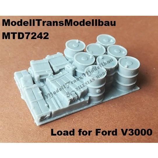 【新製品】MTD7242 独 フォード V3000S 3トントラック 積荷