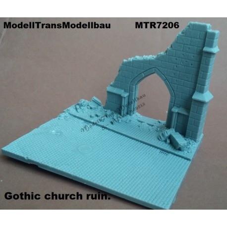 【再入荷】MTR7206 破壊されたゴシック建築の教会